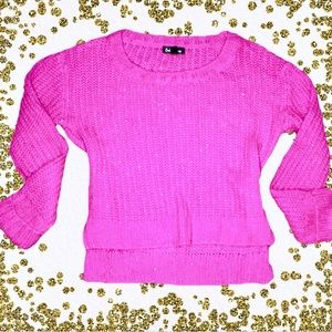 Sweaters - 🌸5/$15 Hot pink high low sweater medium